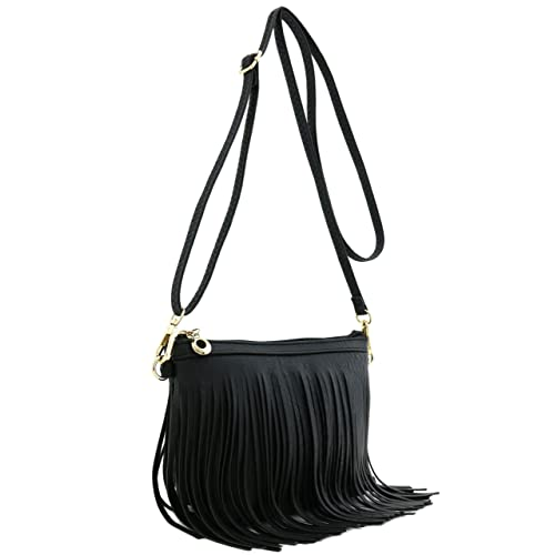 56a0d11d9ad6 Small Fringe Crossbody Bag with Wrist Strap