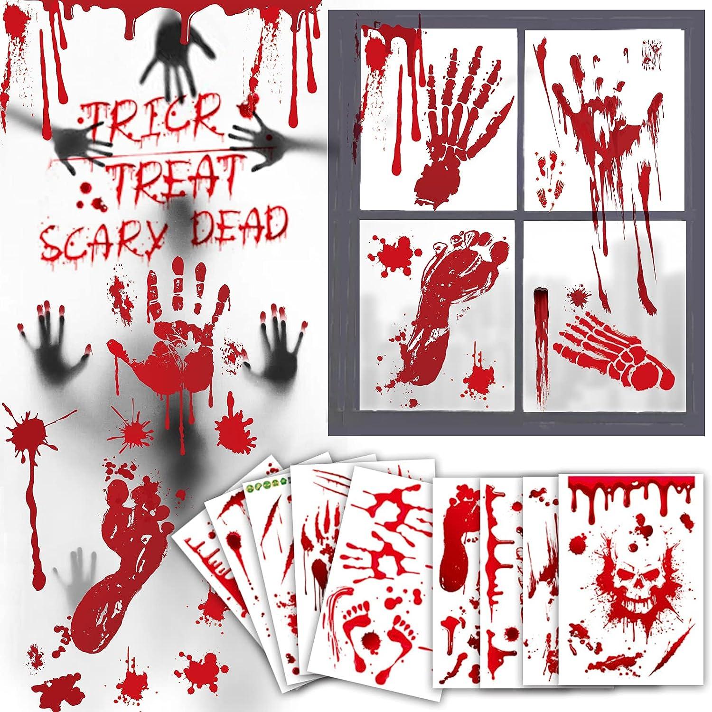 Bloody Handprint Footprint Charlotte Mall Halloween Decorations Window f Clings Max 84% OFF