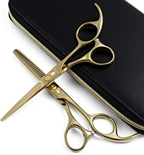 SMITH CHU Professional Hair Cutting Scissors Set - Razor Sharp Japanese 440C Stainless Steel-Hairdressing Thinning/Texturizing Shears for Barber/Hairdresser