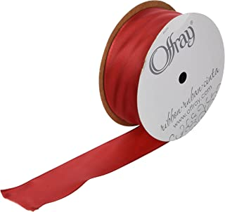 Offray Wired Edge Bistro Craft Ribbon, 3-Inch Wide by 10-Yard Spool, Red