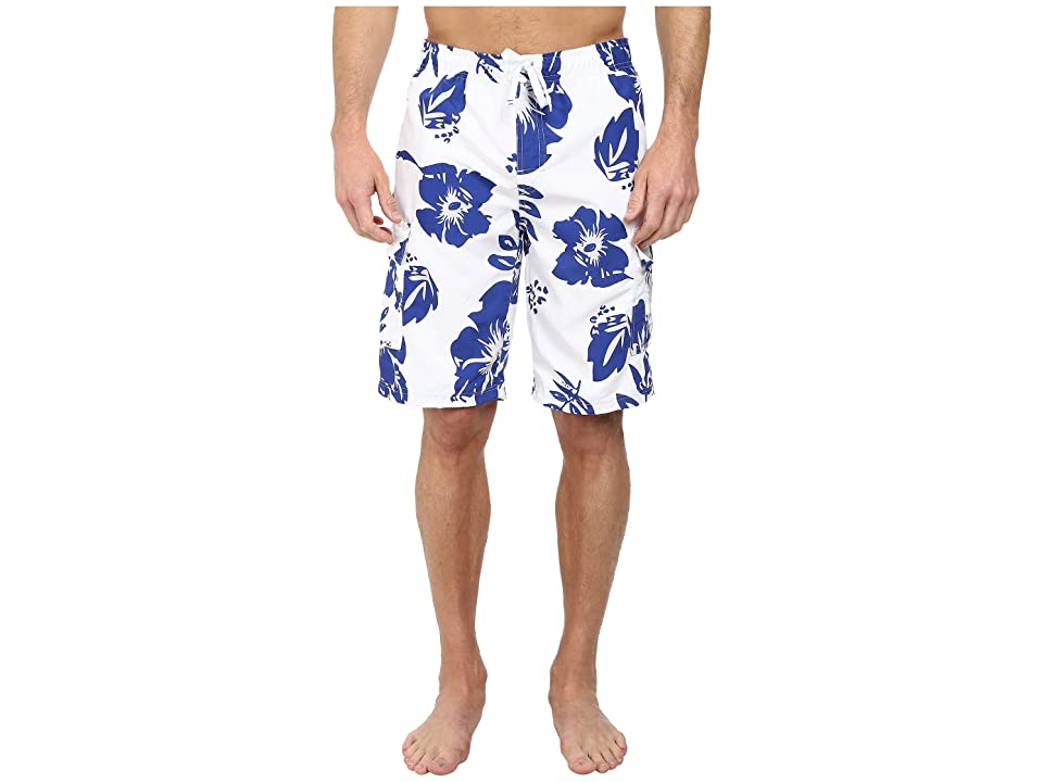 U.S. POLO ASSN. Metallic Flower Boardshorts (Cobalt Blue) Men