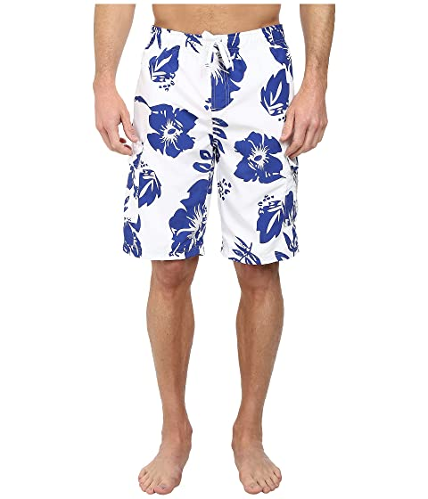 U.S. POLO ASSN. Mens Metallic Flower Boardshorts Cobalt Blue - Swimwear