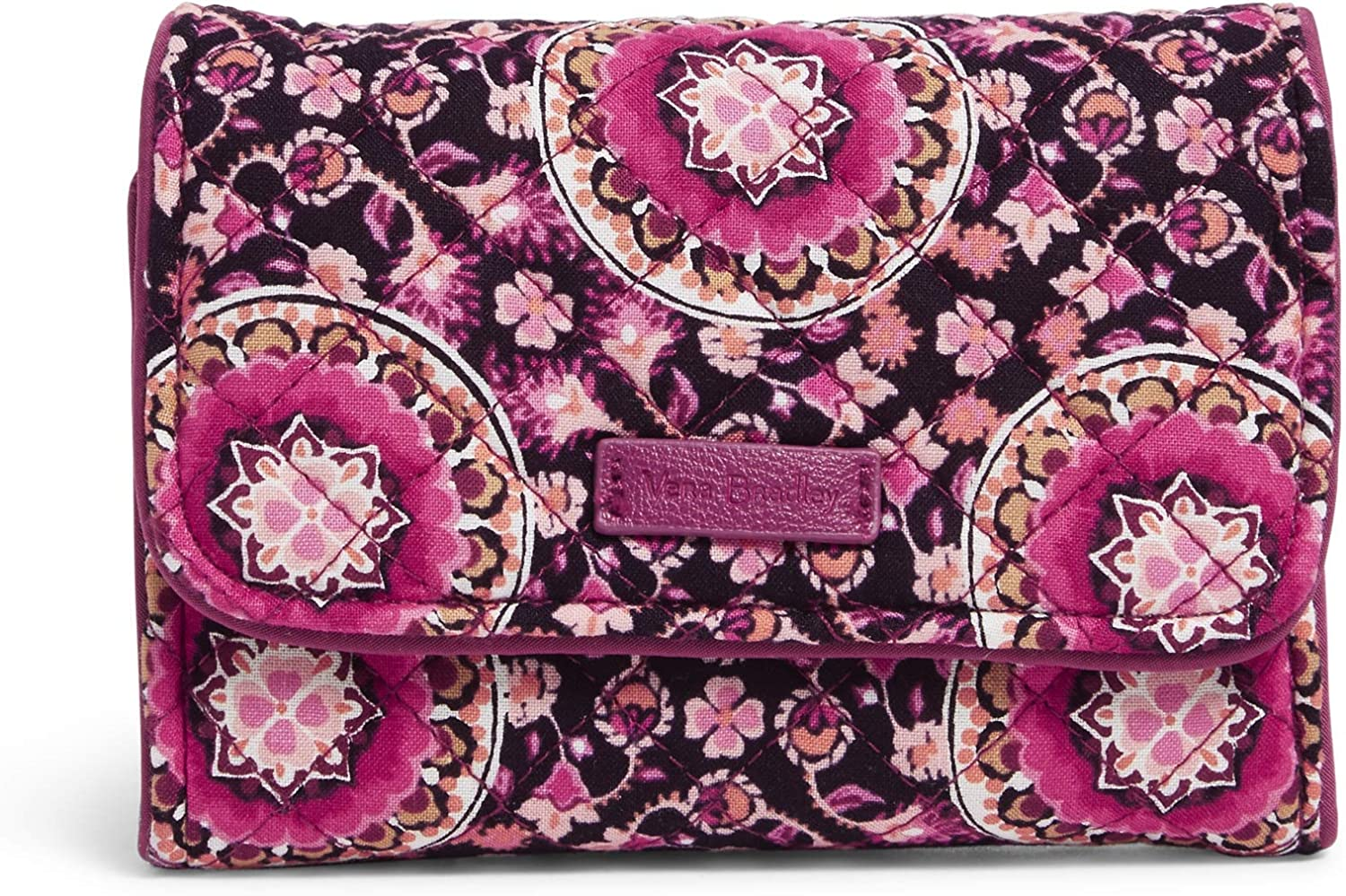 Vera Bradley Women's Los Super beauty product restock quality top! Angeles Mall Signature Cotton with Compact Riley Wallet