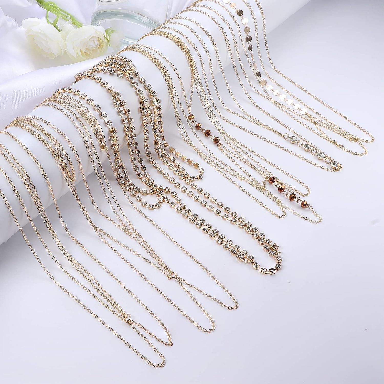 Udalyn 6Pcs Fashion Body Chain Bra Crossover Sexy Body Jewelry Bikini Chains Necklace for Women Summer Beach Party Body Accessories