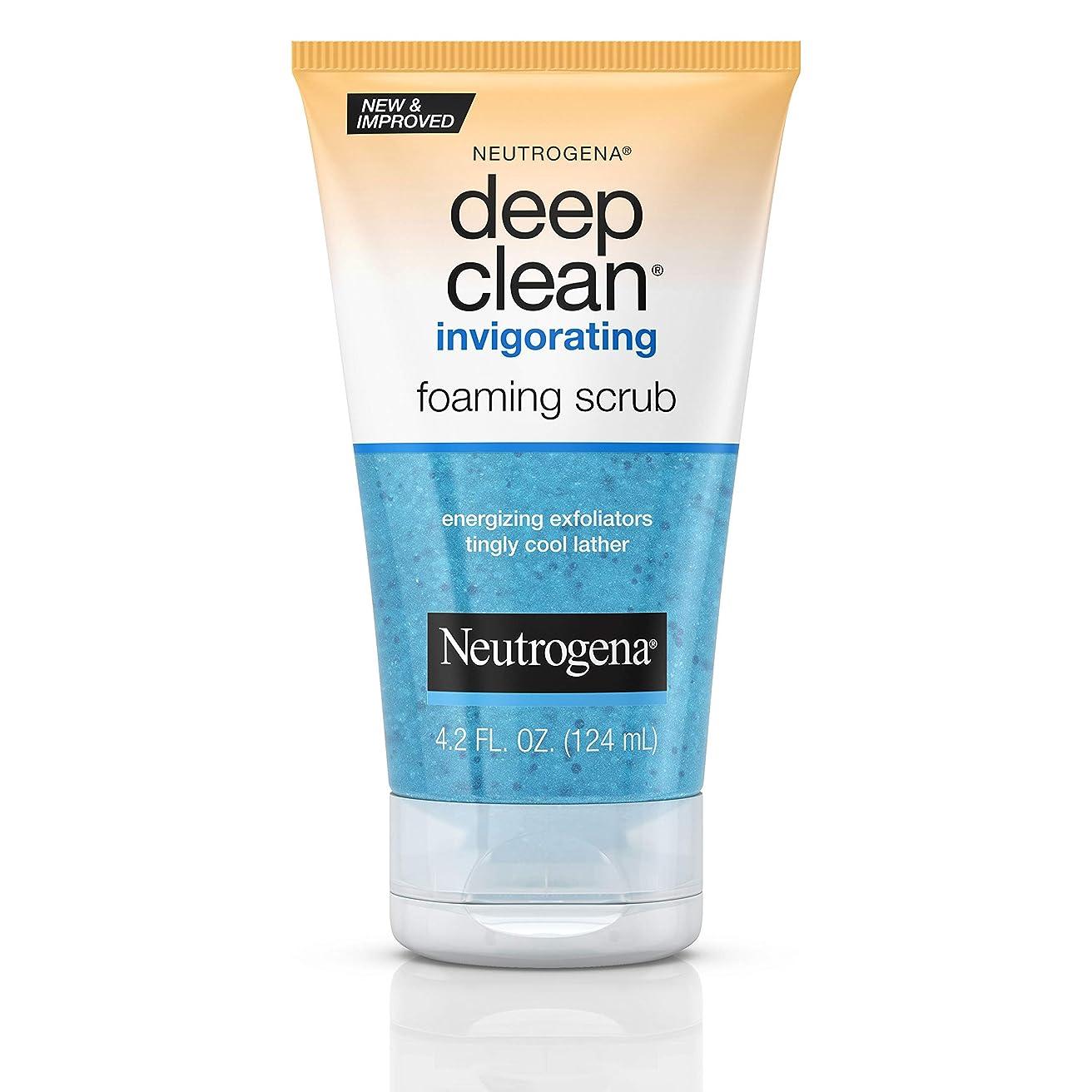 反対した外交教えるNeutrogena Deep Clean Invigorating Foaming Scrub ニキビのための皮膚の奥までキレイにする洗顔ジェル125ml