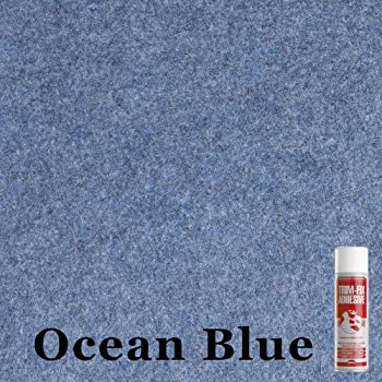 Choose from 30 Sizes of Blue Self Adhesive Van Lining Carpet Super Stretch 2m x 1.4m Blue Coloured