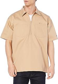 [チャンピオン] 半袖シャツ ワンポイントロゴ ハーフジップシャツ アクションスタイル C3-T316 メンズ
