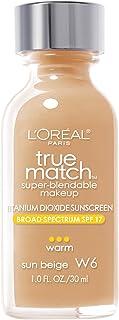 L'Oreal Paris True Match Super Blendable Foundation - W6 Sun Beige, 30 ml