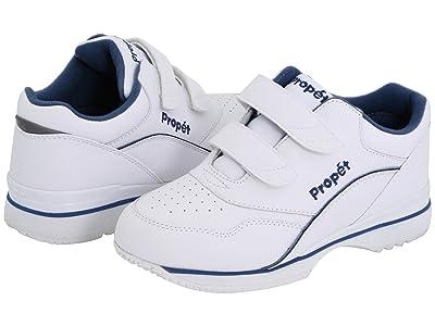 Propet Tour Walker Medicare/HCPCS Code = A5500 Diabetic Shoe (White/Blue) Women