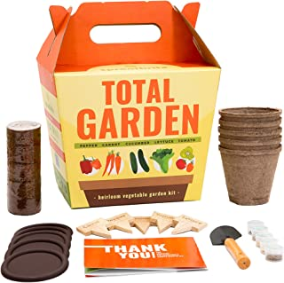 Sproutbrite Vegetable Garden Starter Kit - Gardening Gift - Complete DIY Growing Kit - Easiest Way to Start Growing Heirloom Veggies from Seed