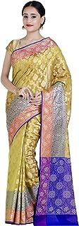 Chandrakala Women's Cotton Silk Blend Indian Ethnic Banarasi Saree with Unstitched Blousepiece(1147)