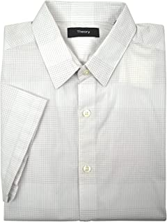 Men's Zack Short Sleeve Grid Plaid Button Down Shirt...