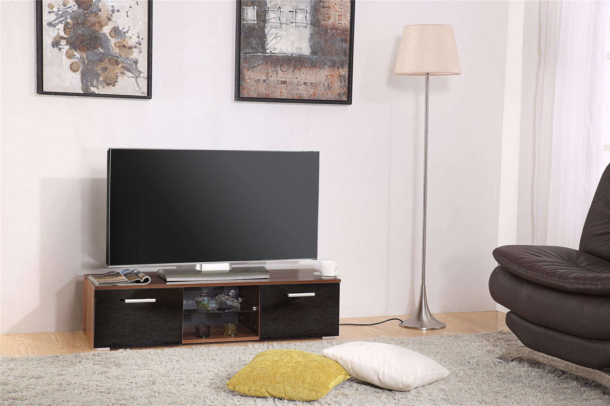 Harmin marca nuevo moderno 120 cm soporte para televisor mueble ...