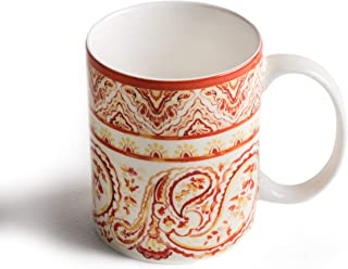 Maison d' Hermine Palatial Paisley Fine Bone China Coffee Mug with Handles for Hot Beverages - Coffee | Cappuccino | Latt...