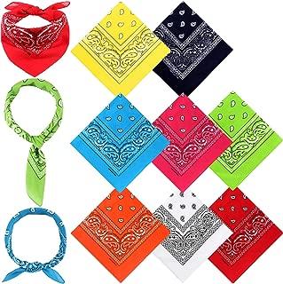 Bandanas for Men Women 8 Piece Paisley Cotton Headbands Bandanas for kids
