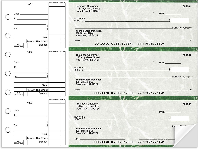Standard Business 3 to a ☆国内最安値に挑戦☆ Page お買得 Green 300 Checks Marble Duplicat