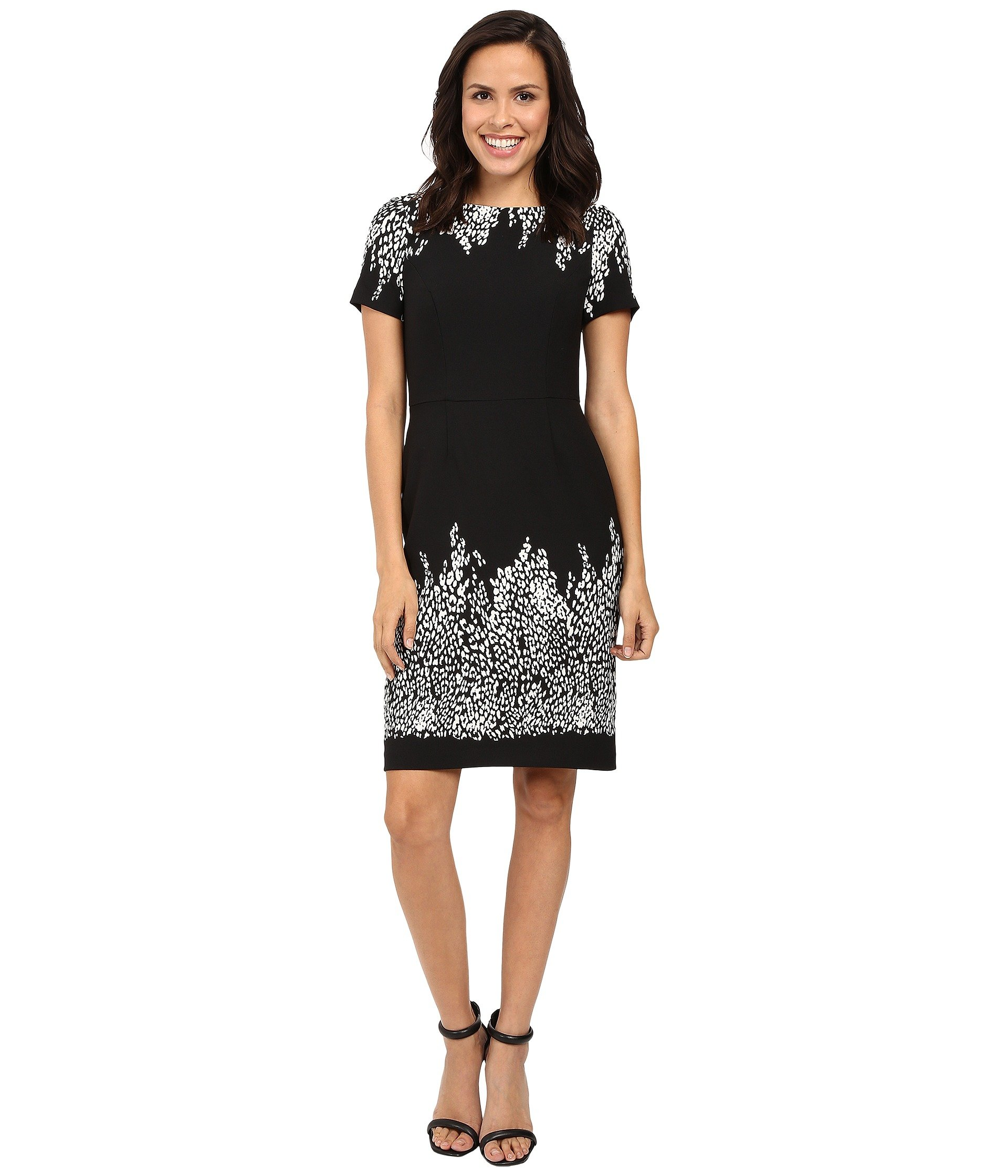 Vestido para Mujer Adrianna Papell Animal and Lace Printed Blocked Sheath Dress  + Adrianna Papell en VeoyCompro.net