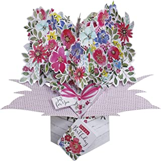 Second Nature Birthday Flowers Pop Up Greeting Card - POP171