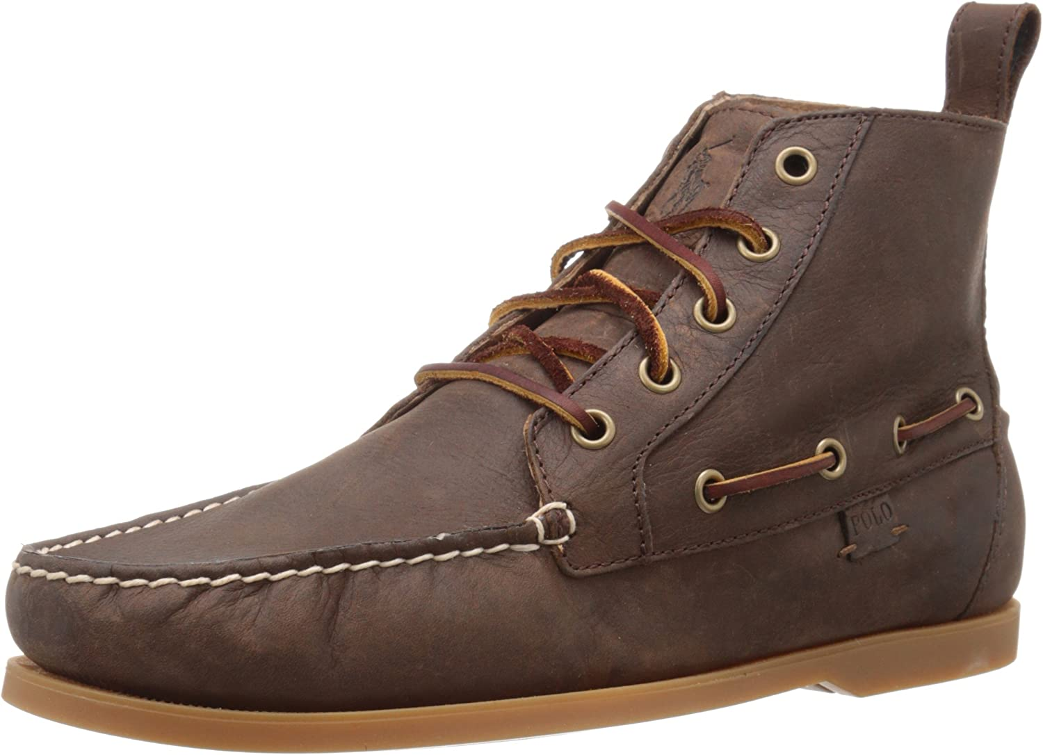 POLO RALPH LAUREN Men's Barredt Oxford, Dark Brown