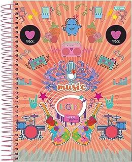 Caderno de 12 Matérias Capa Dura, Pacote com 4 Cadernos, 240 Folhas, Cores Sortidas, Jandaia, Modelo 62577