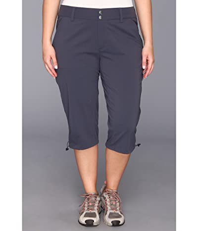 Columbia Plus Size Saturday Trailtm II Knee Pant (India Ink) Women