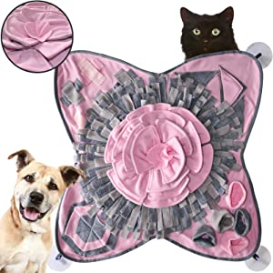 CBBPET Dog Feeding Mat Snuffle Puzzle, Dog Feeding Mats for Food and Water, Dog Toy Mats Encourage Natural Foraging Skills