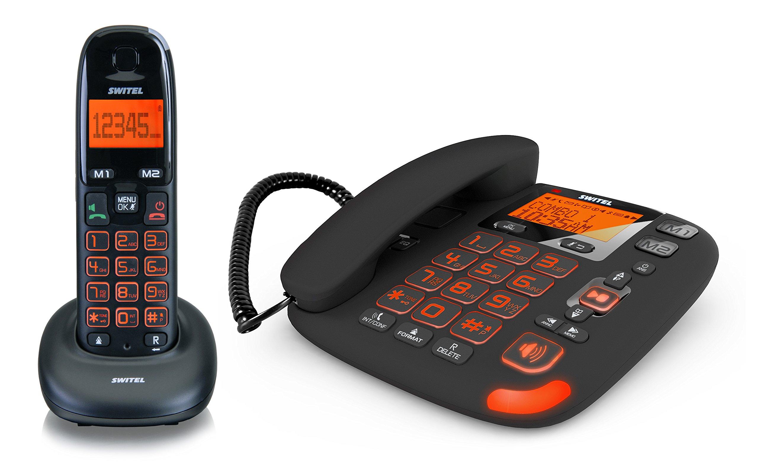 Switel DCT 50072 C VITA - Conjunto de teléfonos: con conexión por cable y teléfono inalámbrico (DECT), importado: Amazon.es: Electrónica
