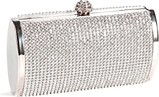 c3b3d106d3 Anladia Ladies Diamante Evening Clutch Bag Purse Wedding Prom Party Box  Handbag