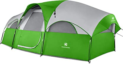 TOMOUNT 8 Person Tent - Professional Waterproof & Windproof & Pest Proof Camping Tent, Solid & Portable with Carry Bag, Easy & Quick Setup, Anti-UV, Double Layer, 5 Large Mesh for Ventilation