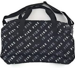 PINK Travel Duffle Bag Black White Block Logos