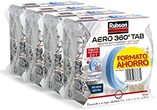3 + 1 navultabletten voor Rubson luchtontvochtiger