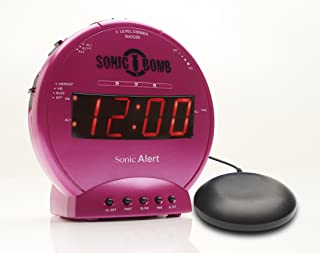 Sonic Bomb Loud Dual Alarm Clock with Vibrating Bed Shaker Pink - SBB500SSP