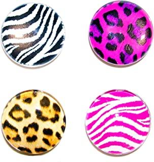 Inkology GlamAzon Magnets, Assorted Animal Prints (858-3), 6 pack of 4 Magnets