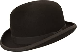 Levine Fleming Firm Felt Derby Bowler Hat 100% Wool (3+ Colors)