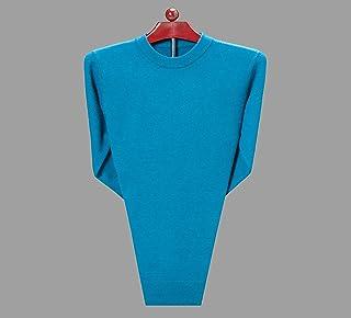 富贵鸟羊毛衫男圆领加厚保暖中年男士毛衣套头衫长袖纯色针织打底衫秋冬新款