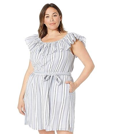 MICHAEL Michael Kors Plus Size Ruffle Neck Mini Dress