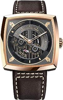 agelocer 艾戈勒 瑞士品牌 大爆炸系列 自动机械男士手表 时尚创意镂空方形 5603D2(亚马逊自营商品, 由供应商配送)