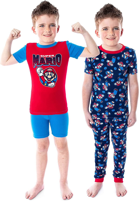 Komar Kids Boy's Super Mario Four-Piece Short Sleeve Cotton Set (Little Kids/Big Kids)