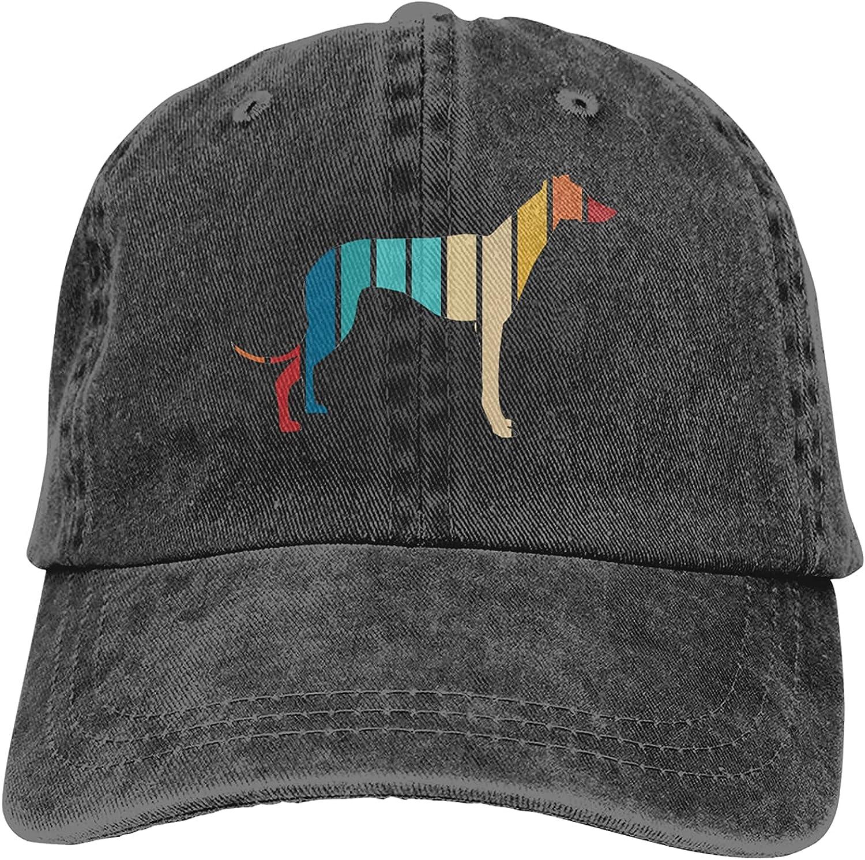 Vintage Greyhound Baseball Cap Trucker Hat Retro Cowboy Dad Hat Classic Adjustable Sports Cap for Men&Women Black