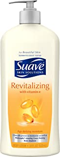Suave Skin Solutions Body Lotion, Revitalizing with Vitamin E 18 oz