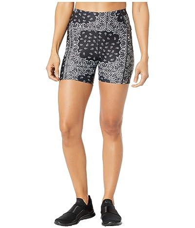 YEAR OF OURS Bandana Short Shorts (Black/White) Women