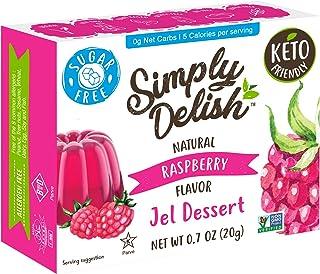 Simply Delish Natural Raspberry Jel Dessert - Sugar Free, Non GMO, Gluten Free, Fat Free, Lactose Free, Keto Friendly - 0....