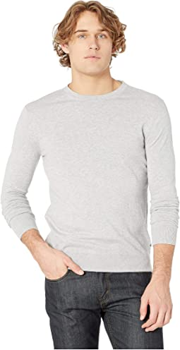 Ams Blauw Cotton Cashmere Knit in Regular Fit