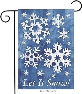 Briarwood Lane Let It Snow! Winter Garden Flag Snowflakes 12.5