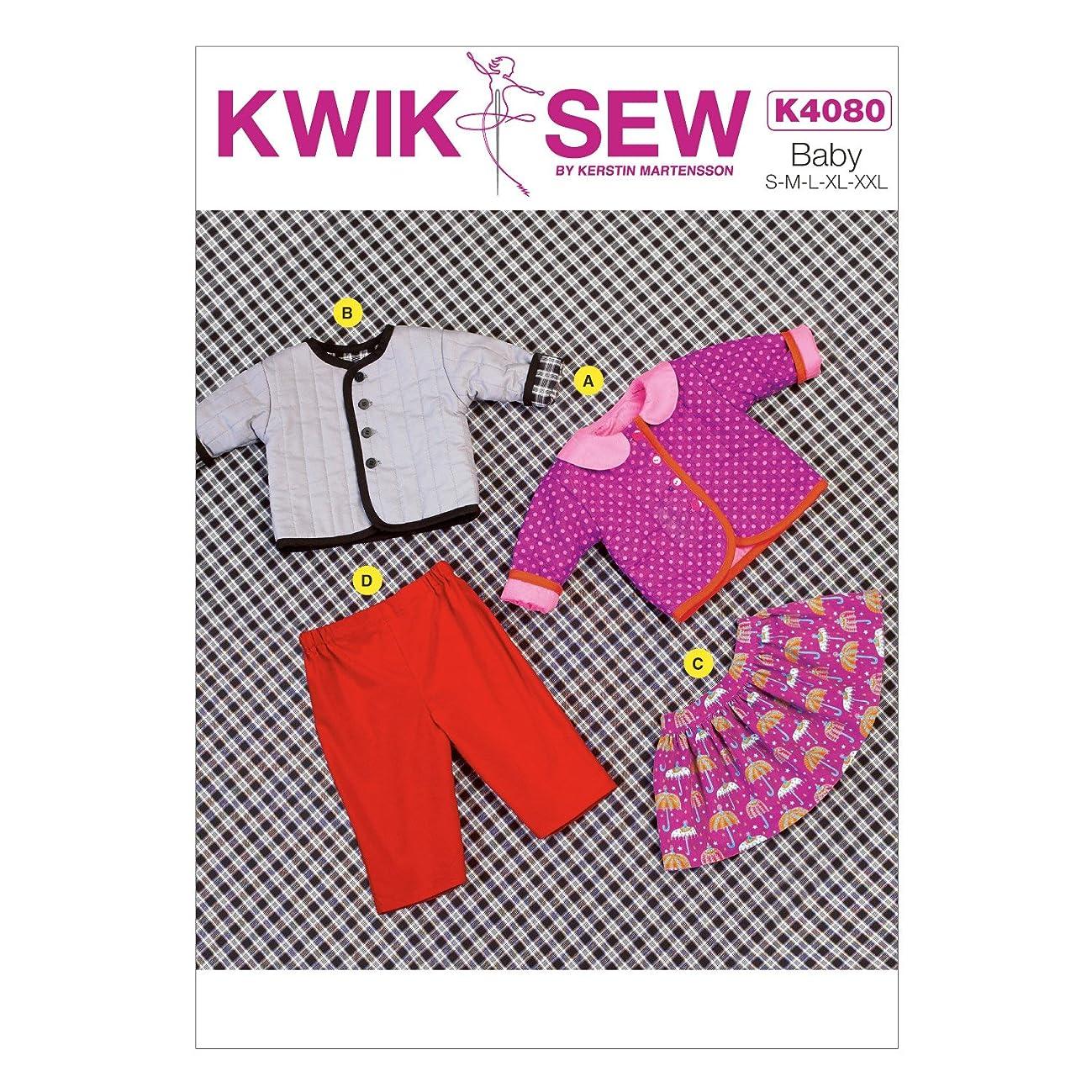 KWIK-SEW PATTERNS K4080 Baby Jacket, Skirt and Pants, All Sizes