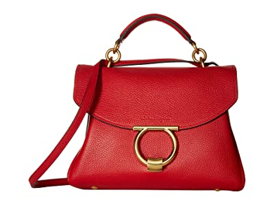 Salvatore Ferragamo Small Top-Handle Bag (Lipstick) Handbags