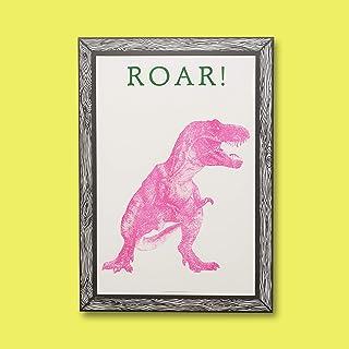 Poster Dinosaure Rose A3 21 x 29 - Imprimé sur Papier 250 g - Poster Mural - Film encadré - Tableaux Décoration Salon - Po...