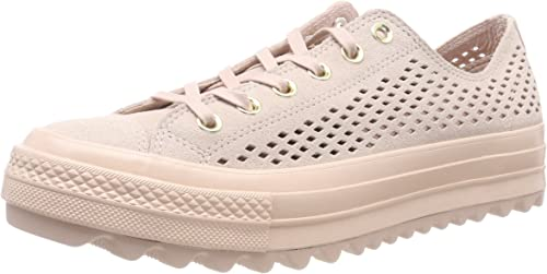 Converse Ctas Lift Ripple Ox Particle Beige, Sneaker Donna