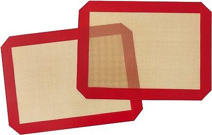 INMAKER Silicone Baking Mat Quarter Sheet Size 21.6cm x 29.2cm Non-Stick (2 Pack)