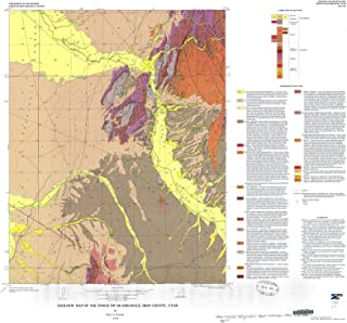 Historic Pictoric Map : Geologic map of The Enoch NW Quadrangle, Iron County, Utah, 1976 Cartography Wall Art : 16in x 16in